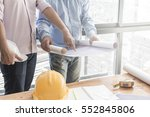 engineers working in the office ... | Shutterstock . vector #552845806