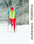 cross country skiing classic... | Shutterstock . vector #552850516