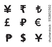 currency symbols icon set... | Shutterstock .eps vector #552852502