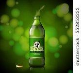 vector template for beer... | Shutterstock .eps vector #552853222