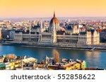 hungarian parliament  aka... | Shutterstock . vector #552858622