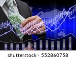 businessman putting euro... | Shutterstock . vector #552860758
