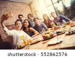a group of friends are taking... | Shutterstock . vector #552862576
