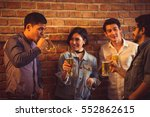 people in asian are celebrating ... | Shutterstock . vector #552862615