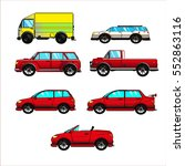 collection cars.vector set on... | Shutterstock .eps vector #552863116