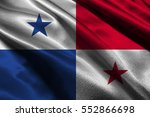 panama flag illustration symbol.... | Shutterstock . vector #552866698