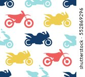 retro motorcycle seamless... | Shutterstock .eps vector #552869296