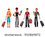 set of young male travelers... | Shutterstock .eps vector #552869872