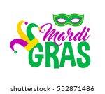 bright abstract mardi gras... | Shutterstock .eps vector #552871486