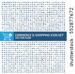commerce and shopping icon set... | Shutterstock .eps vector #552877672