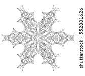 black and white hexagonal... | Shutterstock .eps vector #552881626