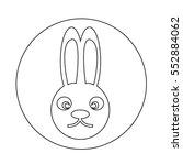 bunny rabbit icon | Shutterstock .eps vector #552884062