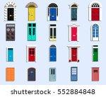 vector doors set ancient ... | Shutterstock .eps vector #552884848