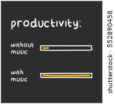 productivity levels with and... | Shutterstock .eps vector #552890458