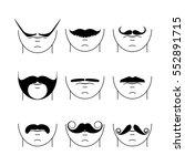 big set of vector hipster... | Shutterstock .eps vector #552891715
