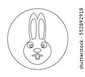 bunny rabbit icon | Shutterstock .eps vector #552892918