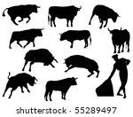 bulls | Shutterstock .eps vector #55289497