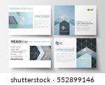 set of business templates for... | Shutterstock .eps vector #552899146