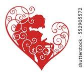 loving couple in decorative... | Shutterstock .eps vector #552905572