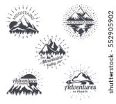 mountain sketch vector logo set ... | Shutterstock .eps vector #552905902