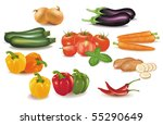 the big colorful group of... | Shutterstock .eps vector #55290649
