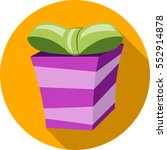 gift box. flat colorful icon.... | Shutterstock .eps vector #552914878