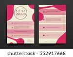 set of brochure  poster design... | Shutterstock .eps vector #552917668