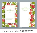 vector strawberry vertical... | Shutterstock .eps vector #552919078
