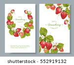 vector strawberry vertical... | Shutterstock .eps vector #552919132