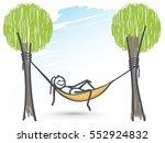 ant relaxing in hammock chair | Shutterstock .eps vector #552924832
