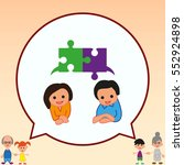 group of people icon  friends... | Shutterstock .eps vector #552924898