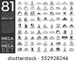 mega set and big group  real... | Shutterstock .eps vector #552928246