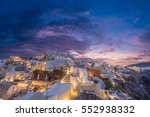 picturesque view  old town of... | Shutterstock . vector #552938332