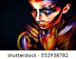portrait of the bright... | Shutterstock . vector #552938782