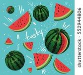 welcome summer inscription on... | Shutterstock .eps vector #552944806