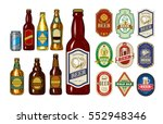 set of icons beer bottles and... | Shutterstock .eps vector #552948346