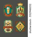 collection of retro beer labels ... | Shutterstock .eps vector #552948352
