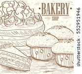 vintage bakery graphic design ... | Shutterstock .eps vector #552951946