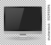 monitor pc realistic with a... | Shutterstock .eps vector #552955096