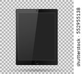 tablet realistic with blank... | Shutterstock .eps vector #552955138