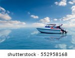 boat speed boat on the sea with ... | Shutterstock . vector #552958168