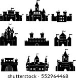 vector icon set with lock ... | Shutterstock .eps vector #552964468
