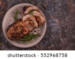 meat roll stuffed with dried... | Shutterstock . vector #552968758