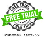 free trial. stamp. sticker.... | Shutterstock .eps vector #552969772