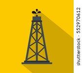 oil rig icon. flat illustration ... | Shutterstock . vector #552970612