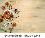 top view spring cooking  ... | Shutterstock . vector #552971245