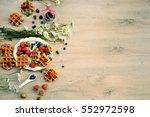 top view spring cooking  ... | Shutterstock . vector #552972598