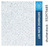 database icon set clean vector | Shutterstock .eps vector #552975685