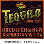 tequila typeface. vector hand... | Shutterstock .eps vector #552984112