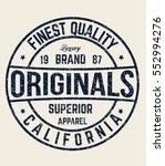 original t shirt. typography... | Shutterstock .eps vector #552994276